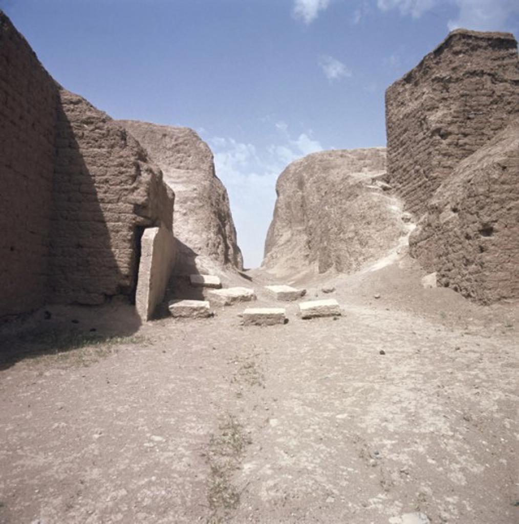 Stock Photo: 2102-2551 Shamas Gate Nineveh Ruins Iraq