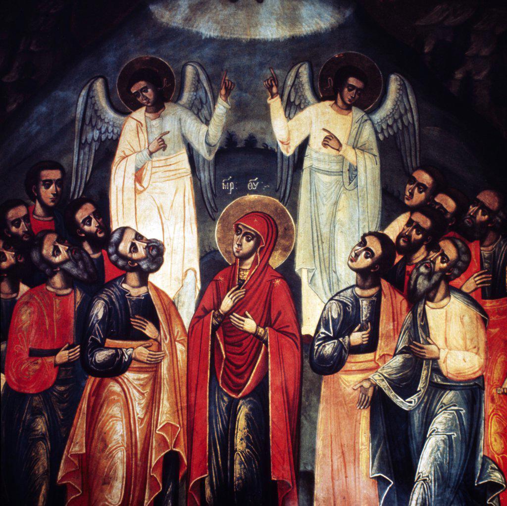 Stock Photo: 2102-2787 Annunciation, Romania, Tirgu Neamt Monastery