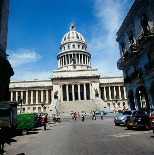 Stock Photo: 2102-2962 Facade of a government building, Capitol Building, Havana, Cuba
