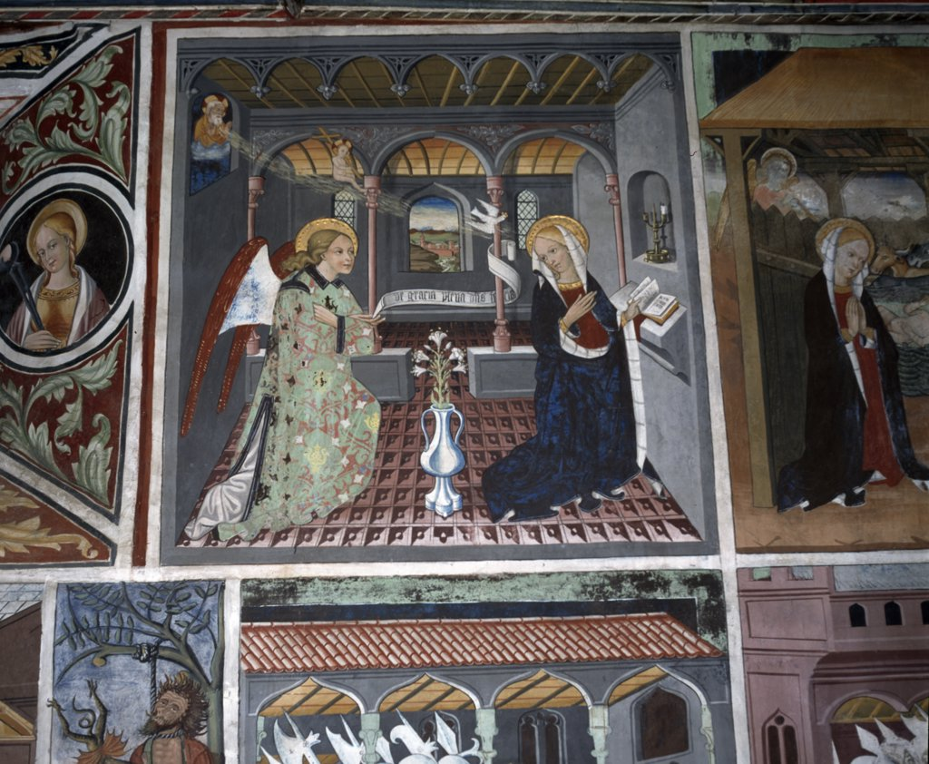 Stock Photo: 2102-2983 Annunciation,  fresco