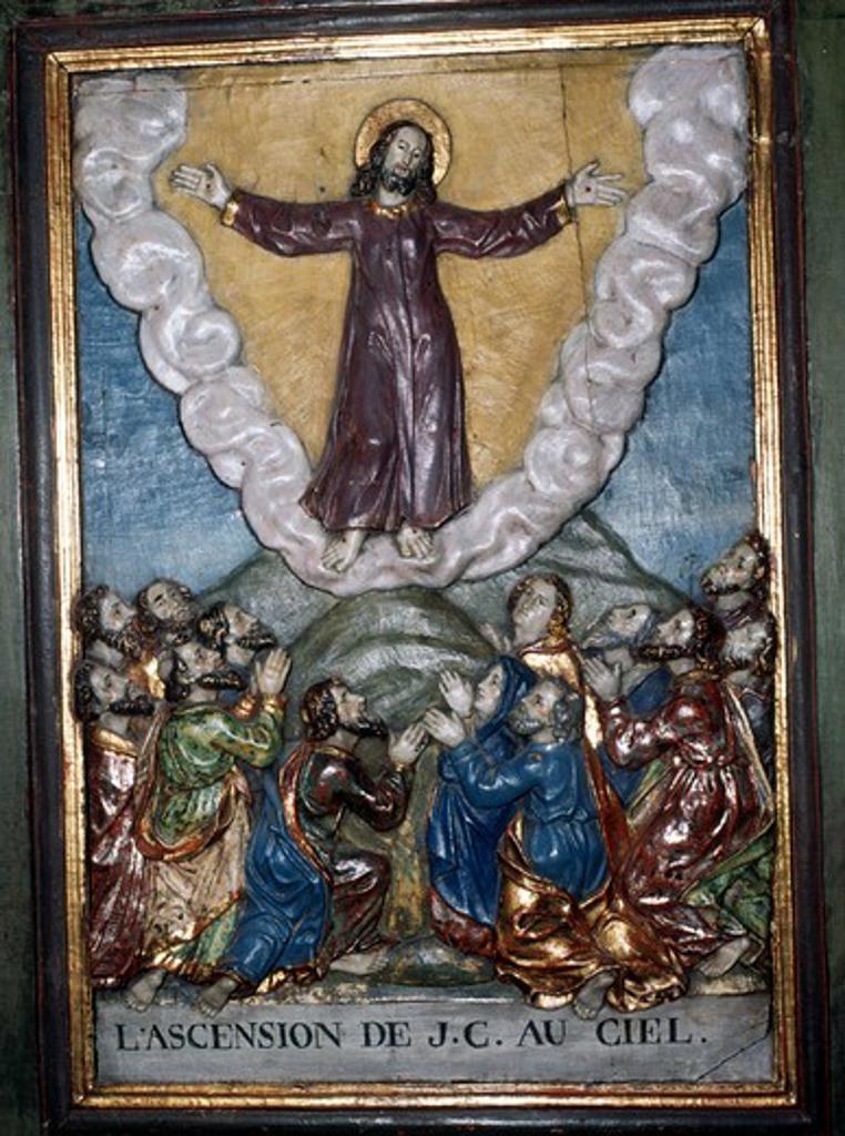 Stock Photo: 2102-2998 France,  Lanslevillard,  St. Sebastien Chapel,  Ascension of Jesus Christ