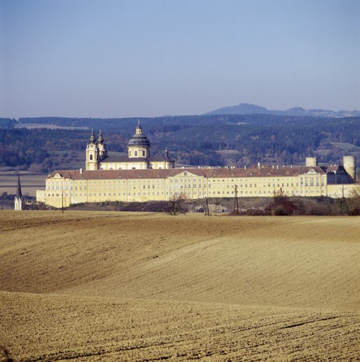 Stock Photo: 2102-3223 High angle view of an abbey, Benedictine Abbey, Melk, Austria