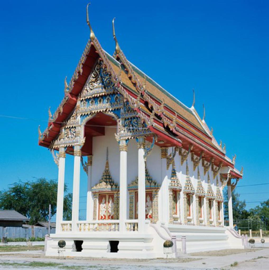 Facade of a temple, Bangkok, Thailand : Stock Photo