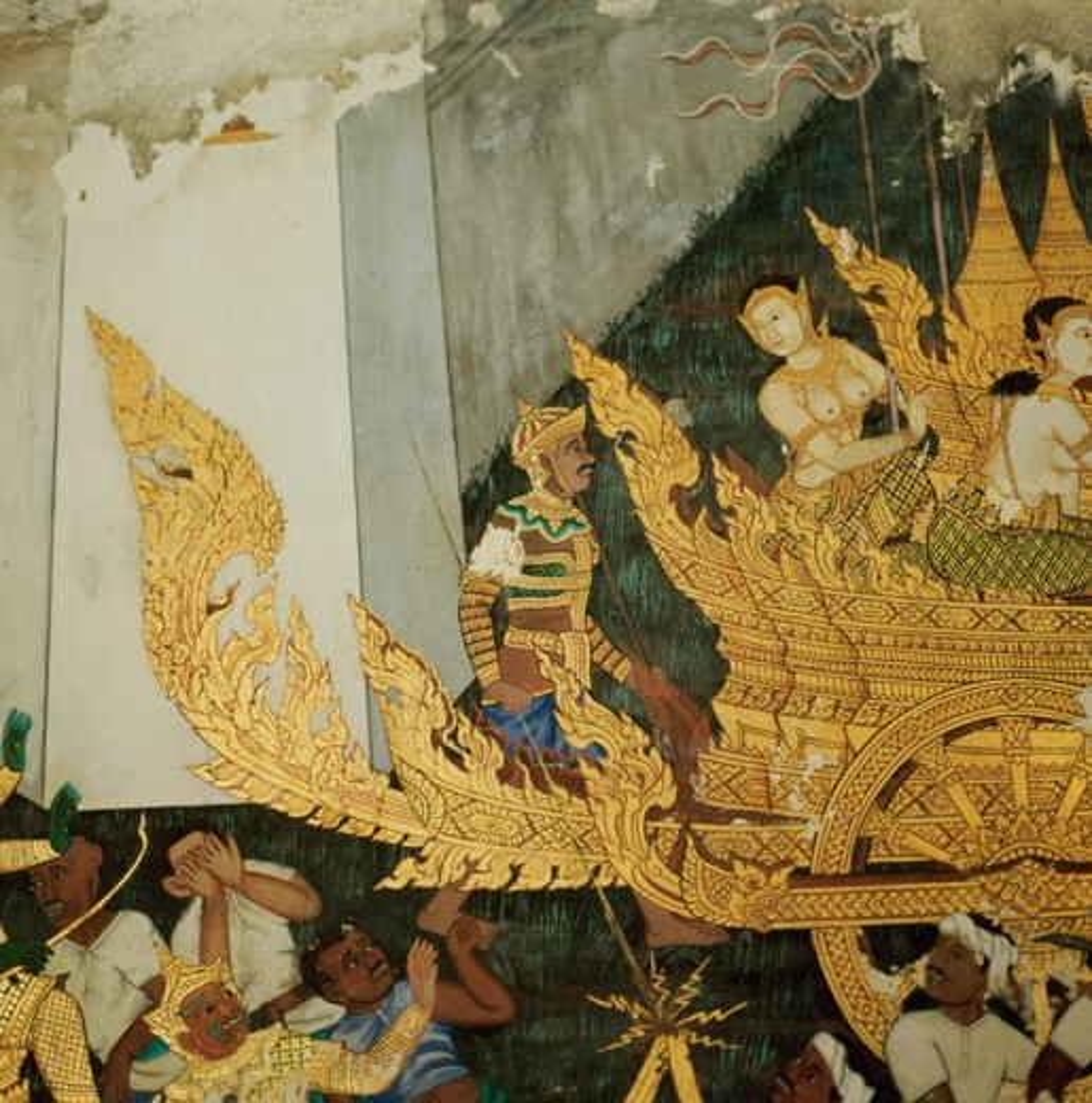 Stock Photo: 2102-3287 Mythological Fresco  Asian Art(- ) Fresco