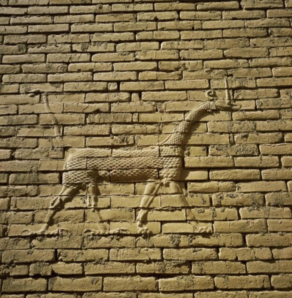 Stock Photo: 2102-336 Lion Babylon Ruins Iraq