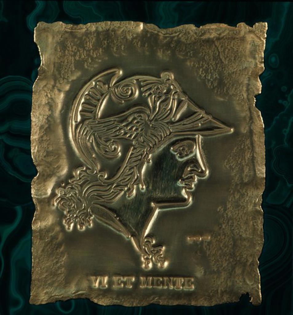 Head of Minerva, relief : Stock Photo