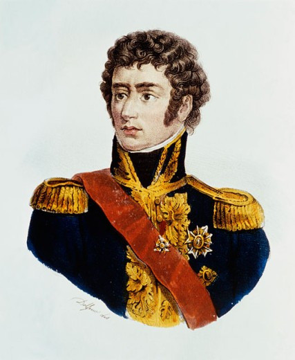 Bernadotte -1764-1845 (Charles XIV, King of Sweden & Norway) World History Lithograph : Stock Photo