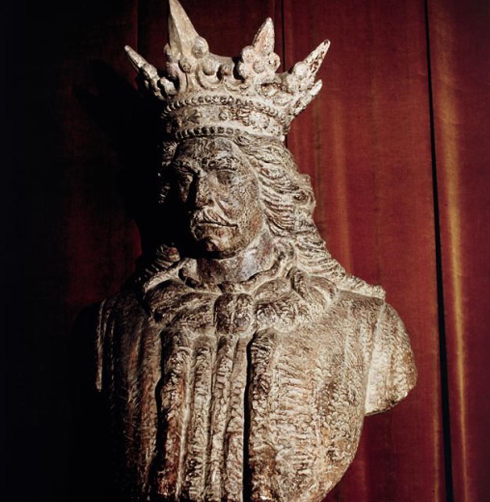 King Stephen (Bathory)  Artist Unknown Sculpture : Stock Photo