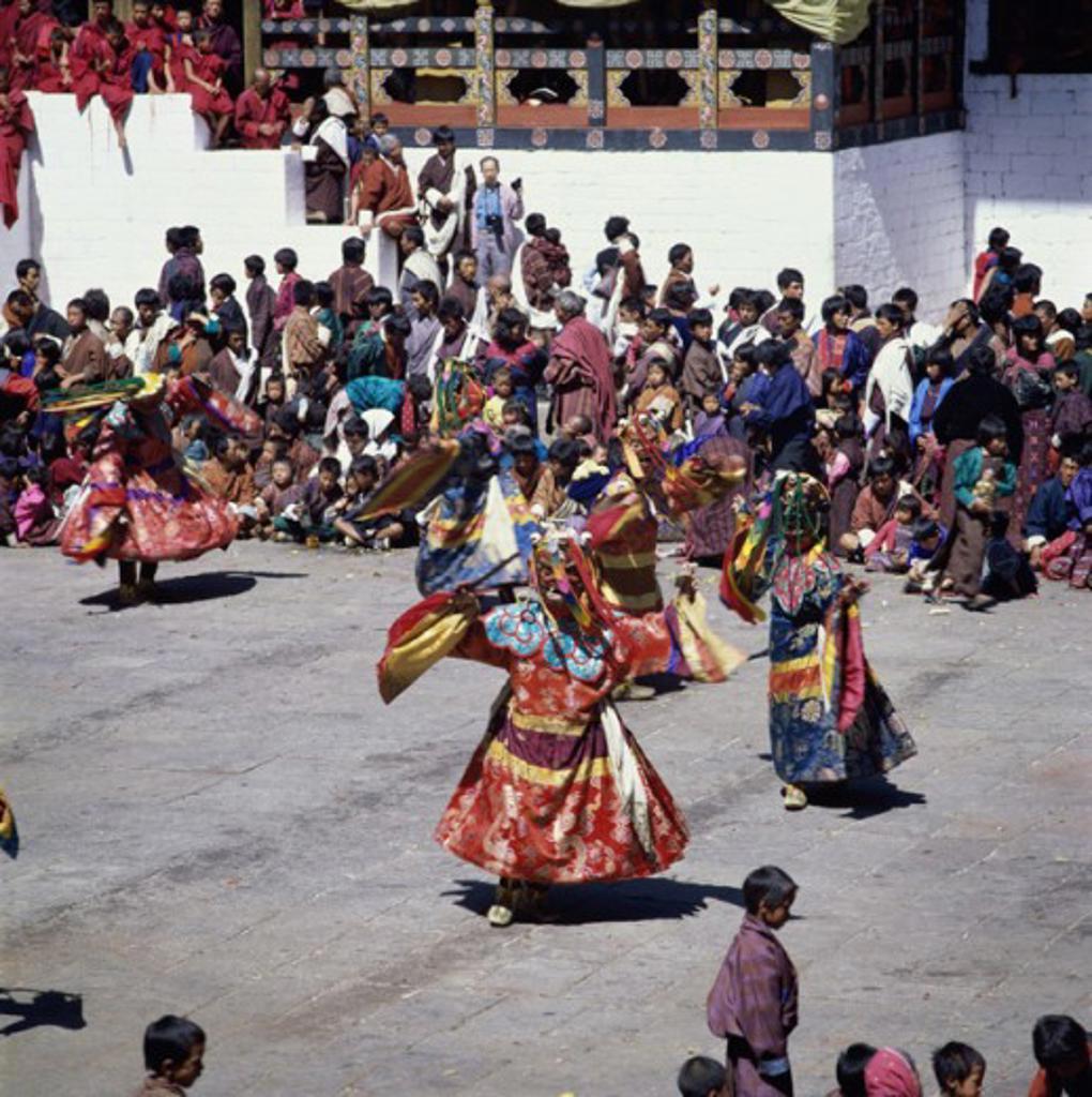 Tsechu Festival Thimphu Bhutan : Stock Photo