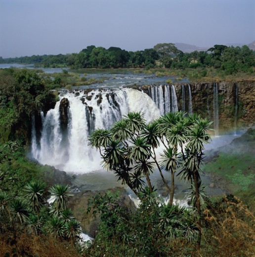 Stock Photo: 2106-169 High angle view of a waterfall, Blue Nile Falls, Ethiopia