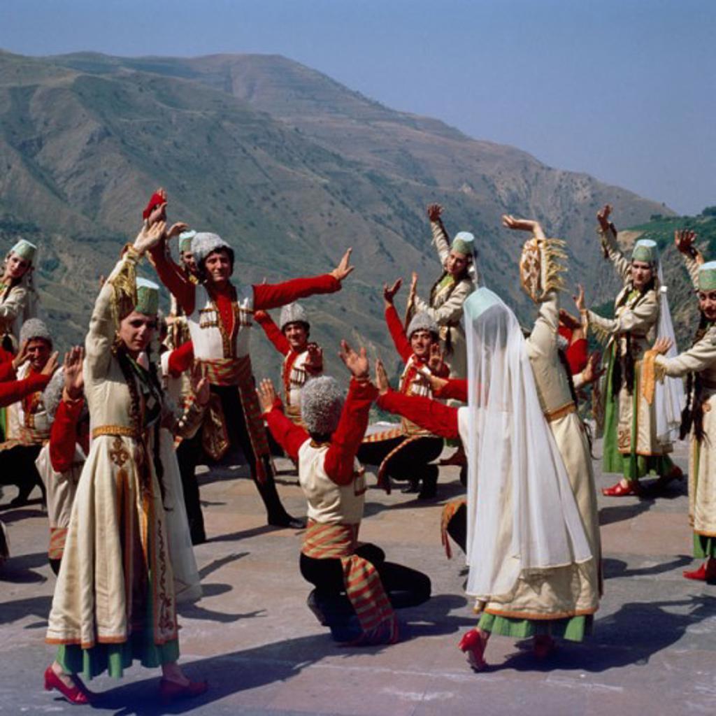 Stock Photo: 2106-558157 Folk Dancers in Traditional Costume Garni Armenia