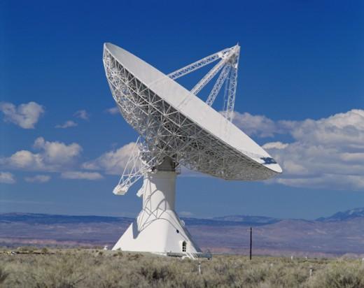 Stock Photo: 2109-239B Radio Telescope California Institute of Technology Bishop California, USA