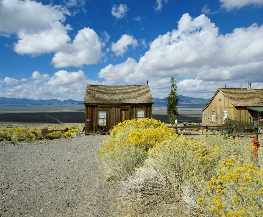 Berlin Ghost Town, Berlin-Ichthyosaur State Park, Nevada, USA : Stock Photo