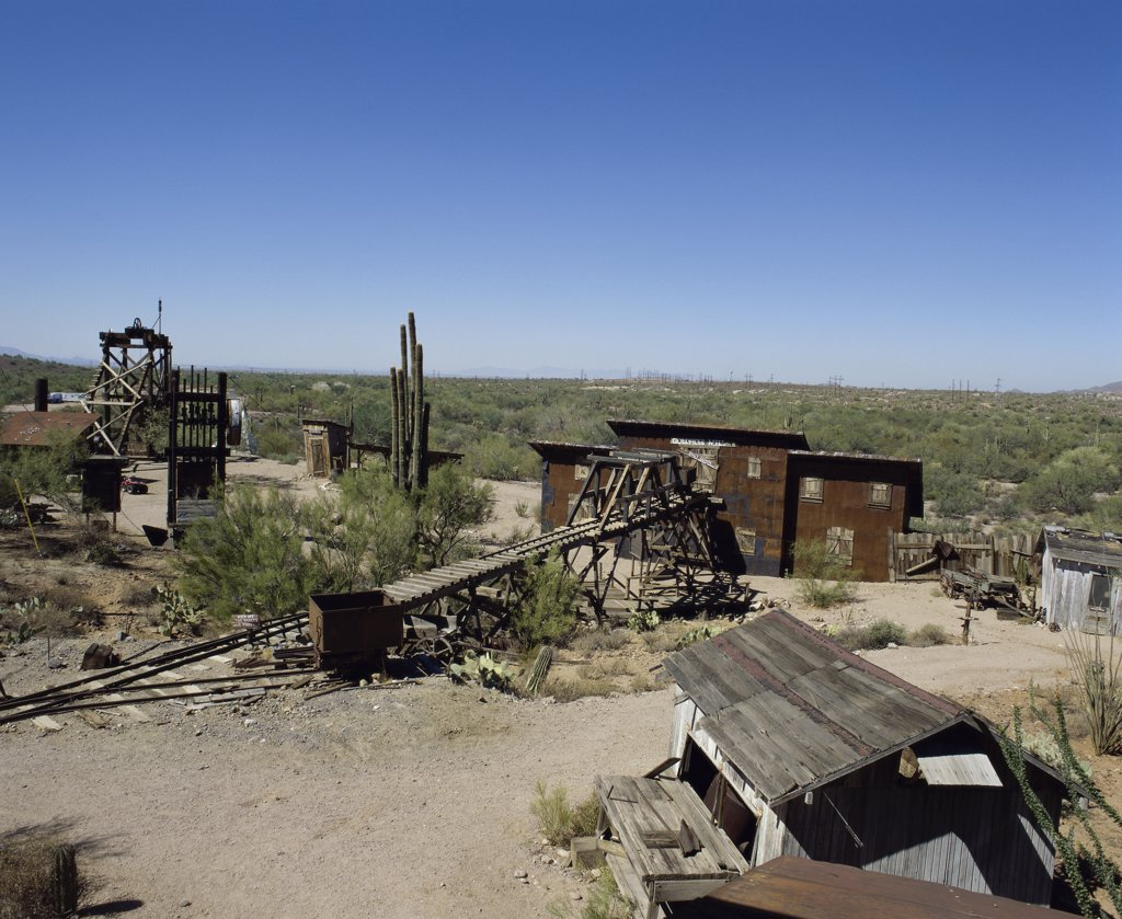 Stock Photo: 2112-556 Goldfield Ghost Town, Apache Junction, Arizona, USA