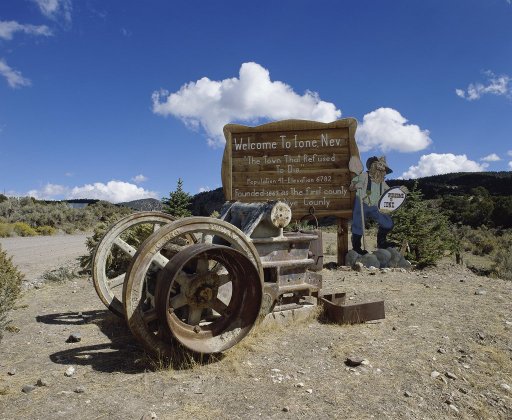 Stock Photo: 2112-560 Ione Ghost Town, Nevada, USA