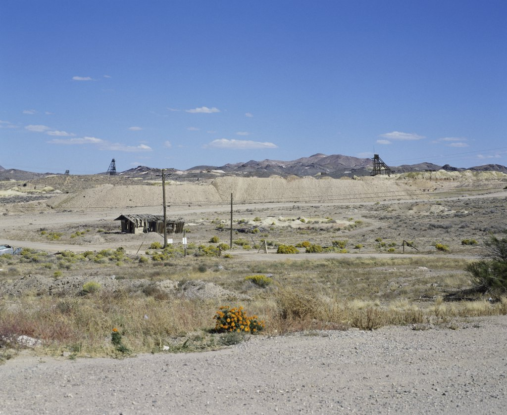 Stock Photo: 2112-563 Panoramic view of Goldfield Ghost Town, Near Tonopah, Nevada, USA