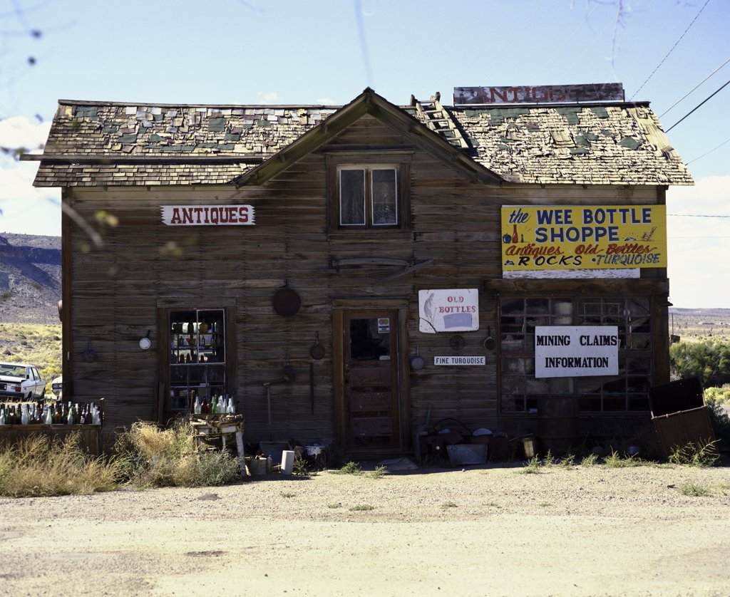 Stock Photo: 2112-564 Facade of Goldfield Ghost Town, Near Tonopah, Nevada, USA