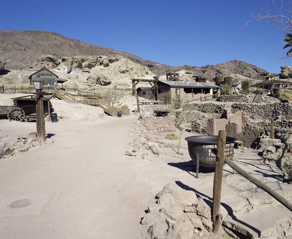 Maggie's Mine, Calico Ghost Town, Barstow, California, USA : Stock Photo
