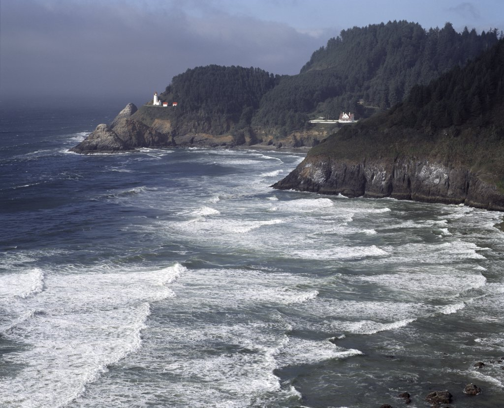 Stock Photo: 2112-855D USA, Oregon, Heceta Head Lighthouse