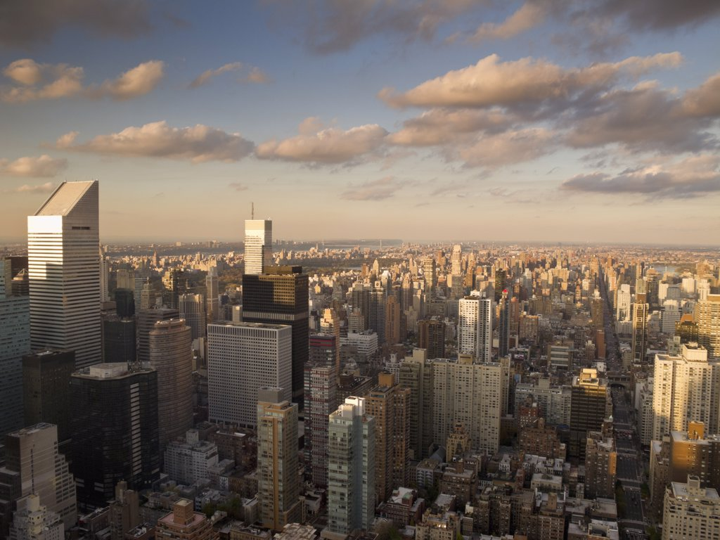 High angle view of a city, Midtown Manhattan, Manhattan, New York City, New York State, USA : Stock Photo