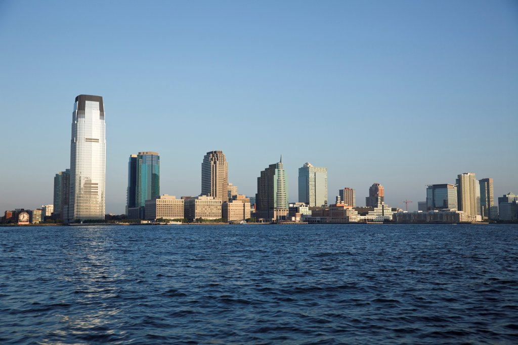 Stock Photo: 2117-588614 USA, New Jersey, Jersey City seen from Upper New York Bay