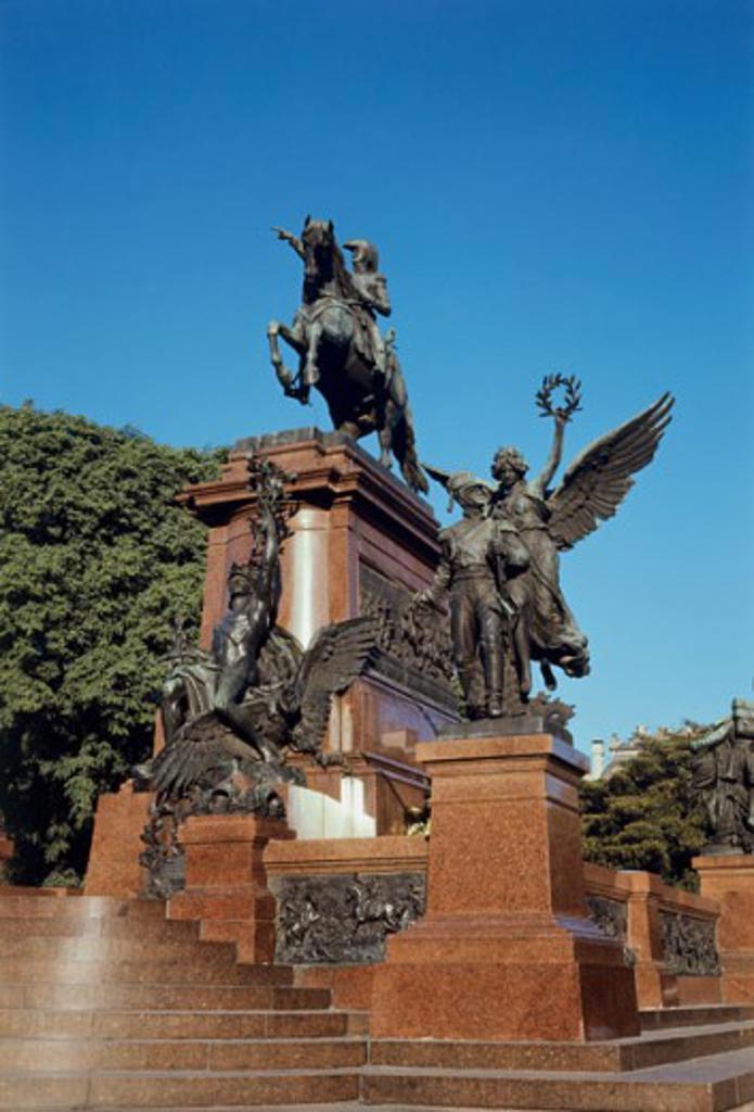 Stock Photo: 2120-464313 Plaza San Martin Buenos Aires Argentina