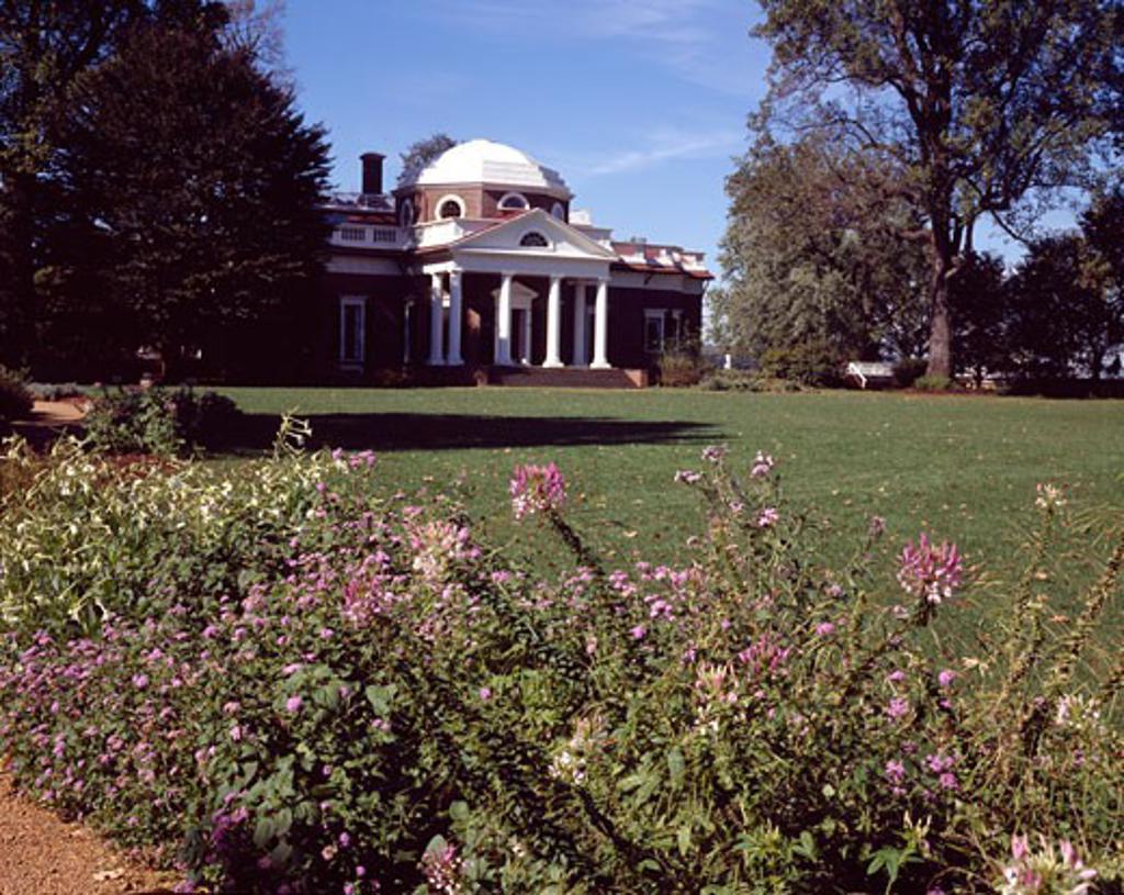 Monticello Home of Thomas Jefferson Charlottesville Virginia, USA : Stock Photo