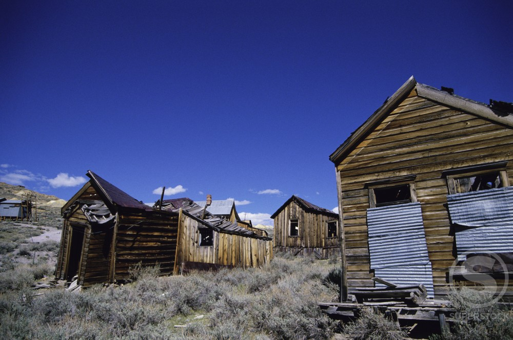 Stock Photo: 2142-399 Building at Bodie State Historic Park, California, USA