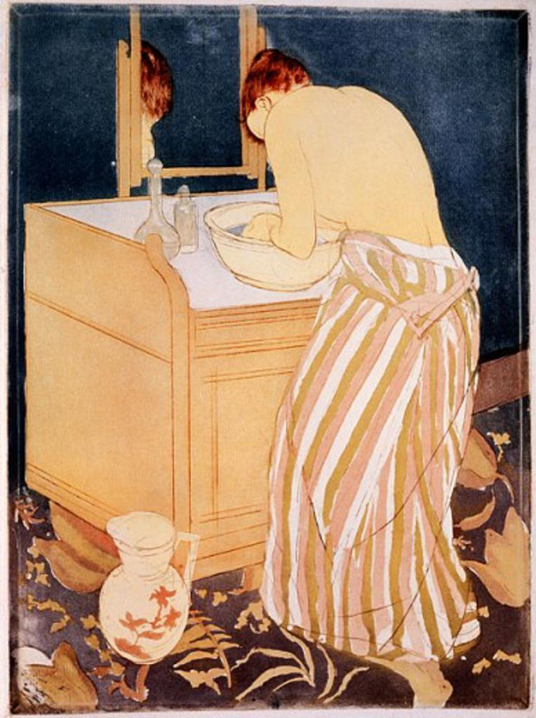 Stock Photo: 2145-139713 La Toilette  1891 Mary Cassatt (1845-1926 American) National Gallery of Art, Washington, D.C., USA