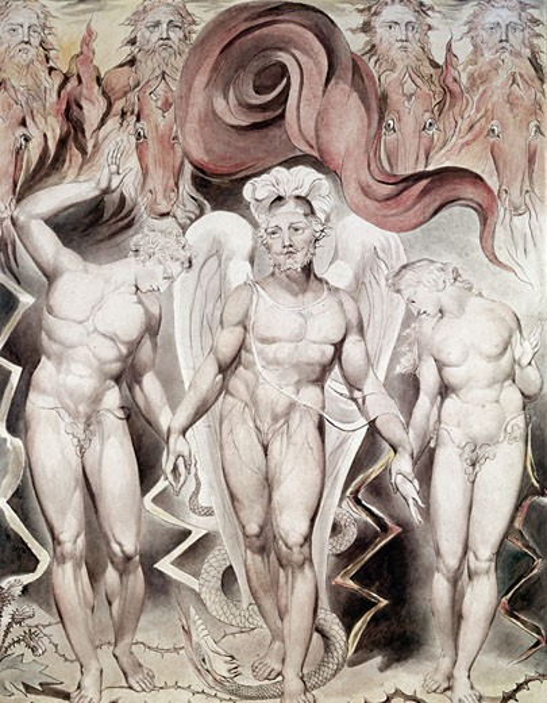 Expulsion From Eden William Blake (1757-1827 British) : Stock Photo