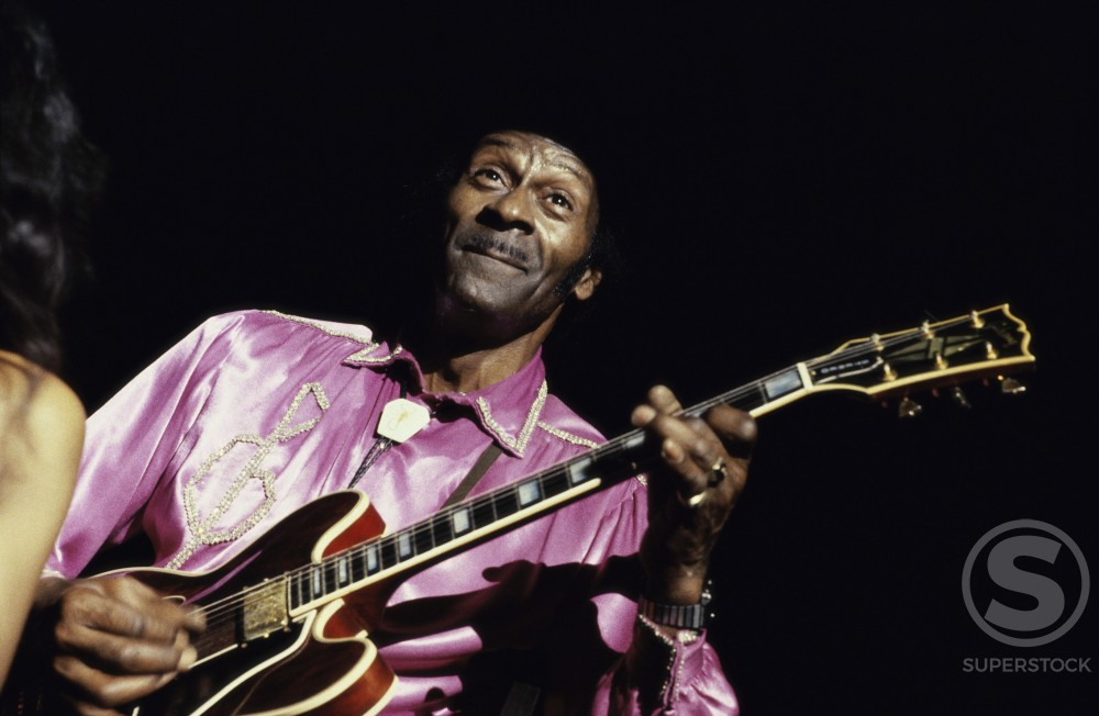 Chuck Berry, American Singer and Composer, (b. 1926) : Stock Photo