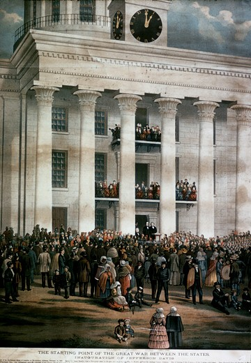Stock Photo: 2180-486292 The Starting Point of the Great War Between States,