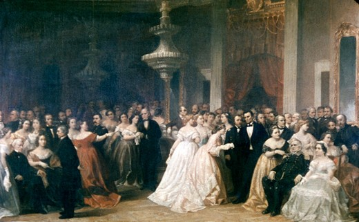 A Lincoln Reception at the White House (1863)