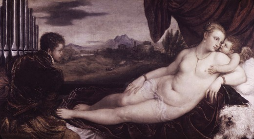 Stock Photo: 2180-499650 Venus & the Organ Player