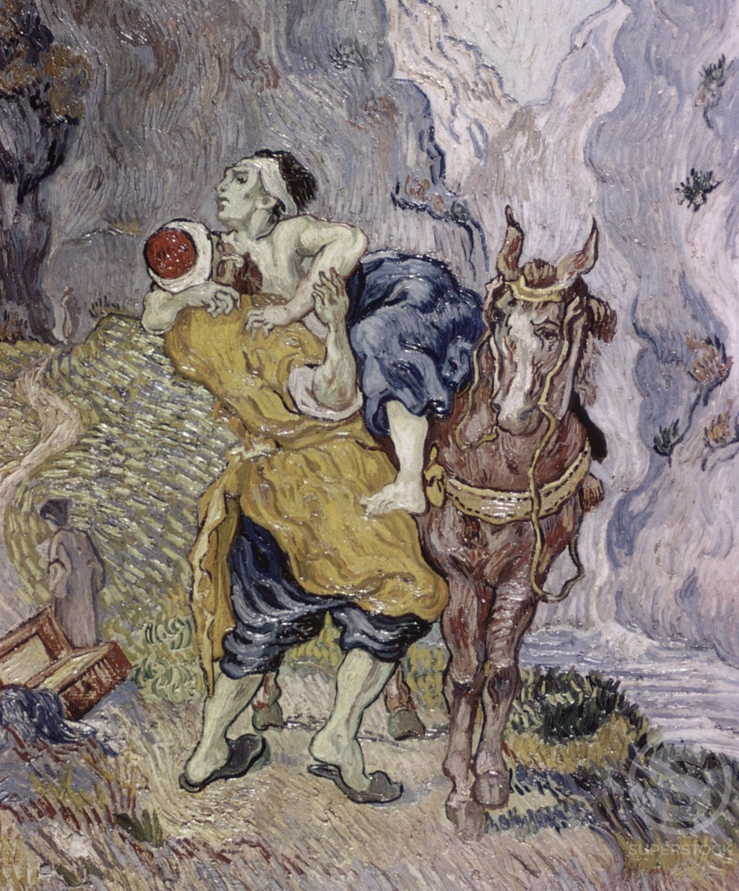 Stock Photo: 2180-512892 The Good Samaritan (after Delacroix)