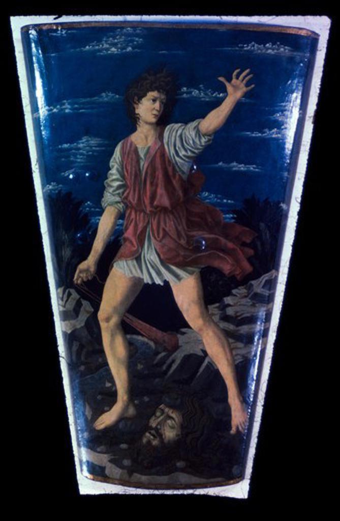 The Youthful David Andrea del Castagno (ca.1421-1457/Italian) National Gallery of Art, Washington D.C  : Stock Photo