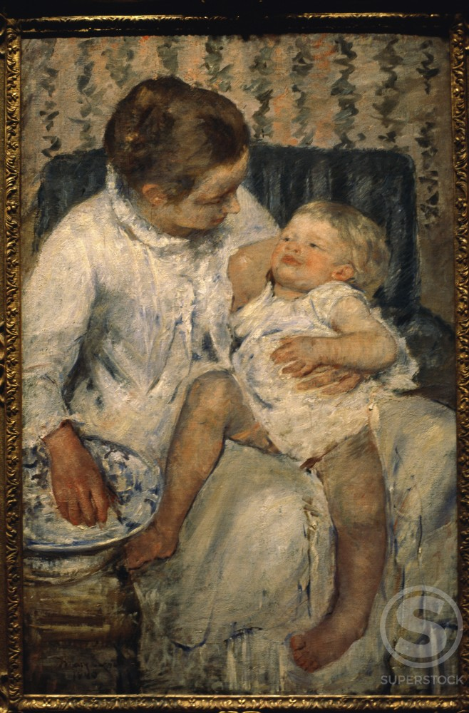 Mother Bathing Her Child 