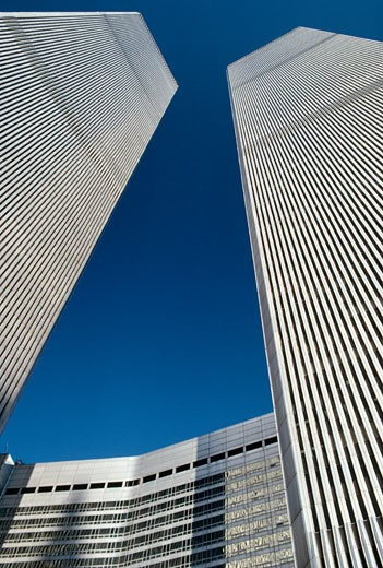 Stock Photo: 2191-144 USA,  New York State,  New York City,  World Trade Center,  low angle view