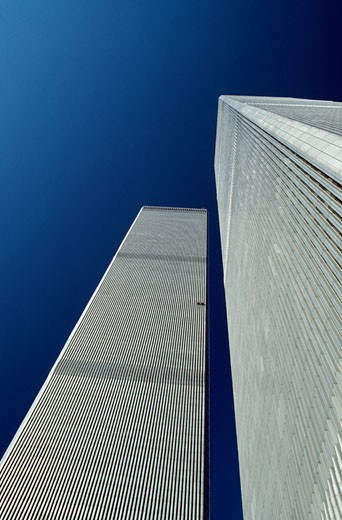 Stock Photo: 2191-146 USA,  New York State,  New York City,  World Trade Center,  low angle view