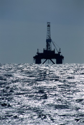 Offshore Oil Rig Gulf of Mexico : Stock Photo