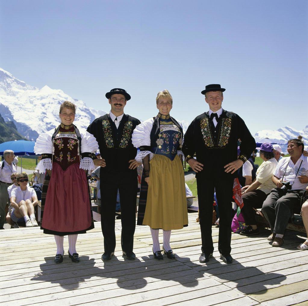 Stock Photo: 2231-382 Mountain Spring Festival Mannlichen Switzerland