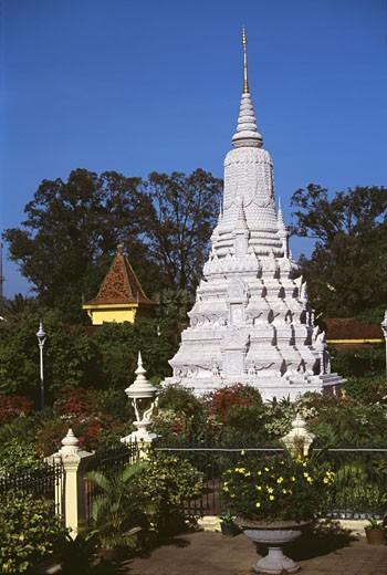 Stock Photo: 2253-348 Silver Pagoda Phnom Penh Cambodia