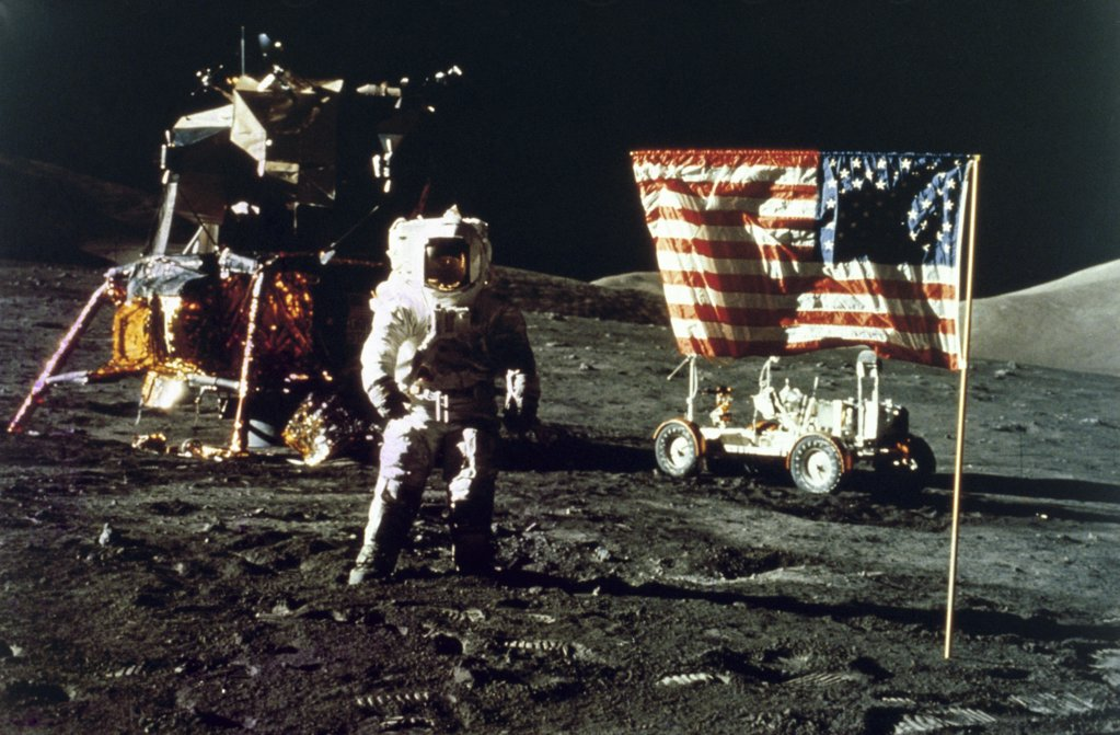 Harrison Schmitt, Apollo 17, Taurus-Littrow Landing Site, December 1972 : Stock Photo