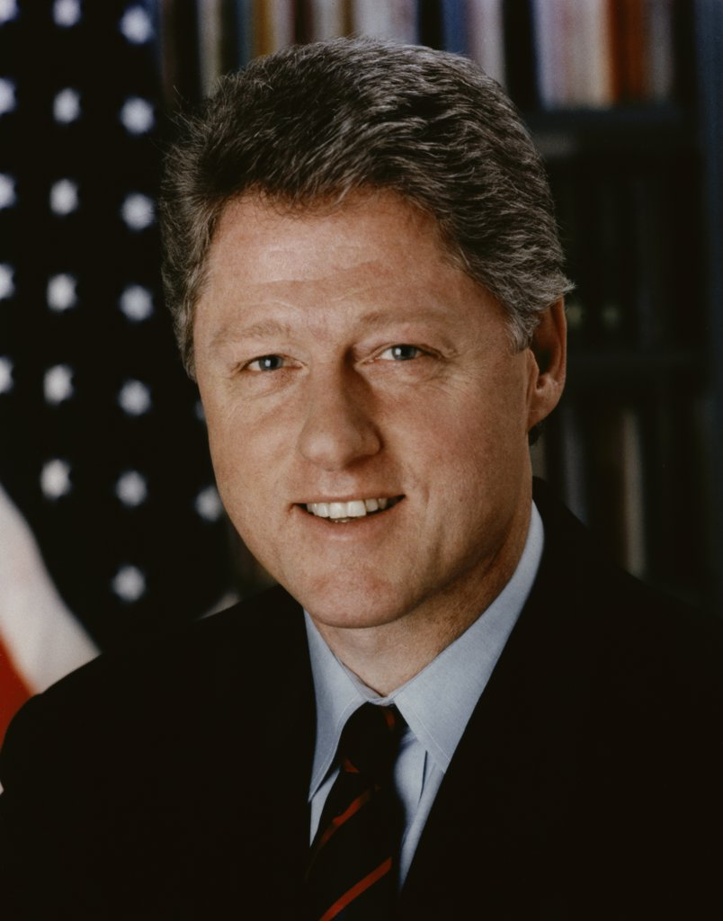 Stock Photo: 227-738D William Jefferson Clinton, 42nd President of the United States, (b. 1946)