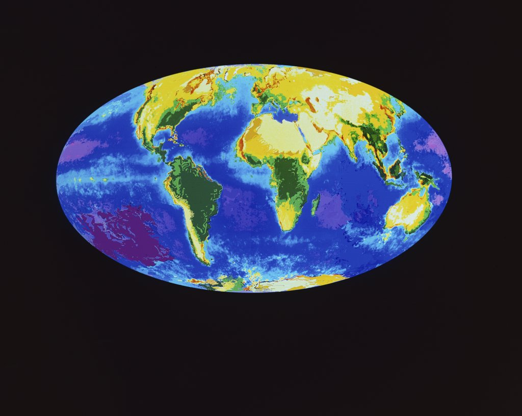 Stock Photo: 227-739 Close-up of the Earth