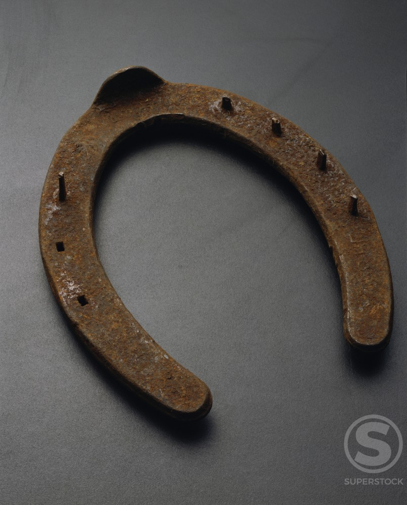 Stock Photo: 230-886B Close-up of a horseshoe