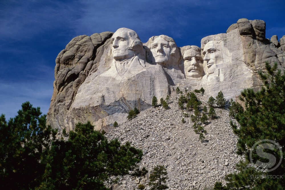 Stock Photo: 246-381B Mount Rushmore National Memorial
