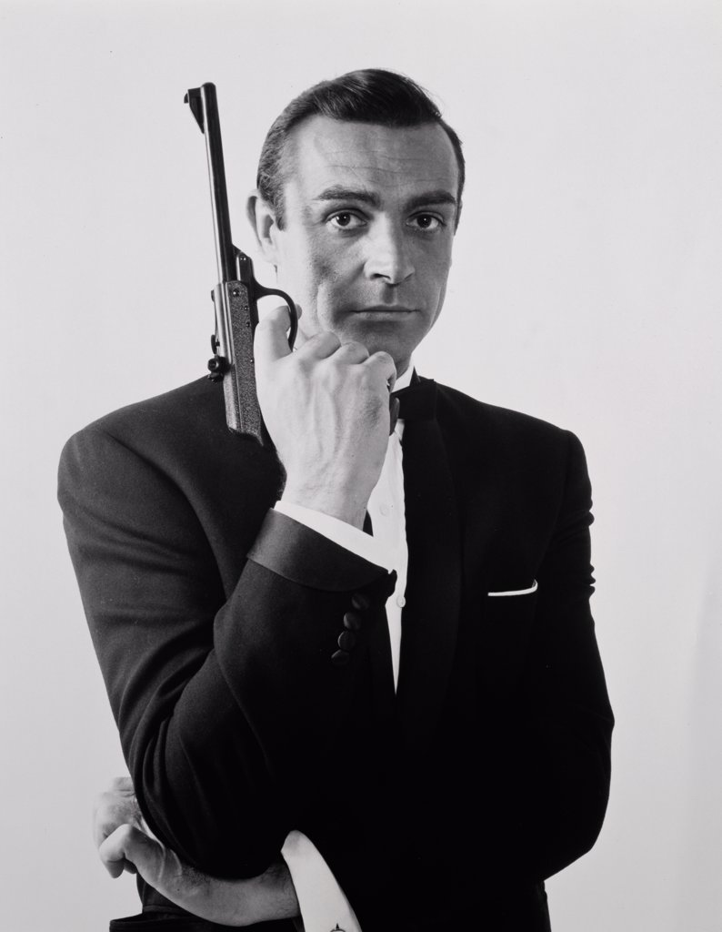 Stock Photo: 252-213 Sean Connery as James Bond Goldfinger 1964