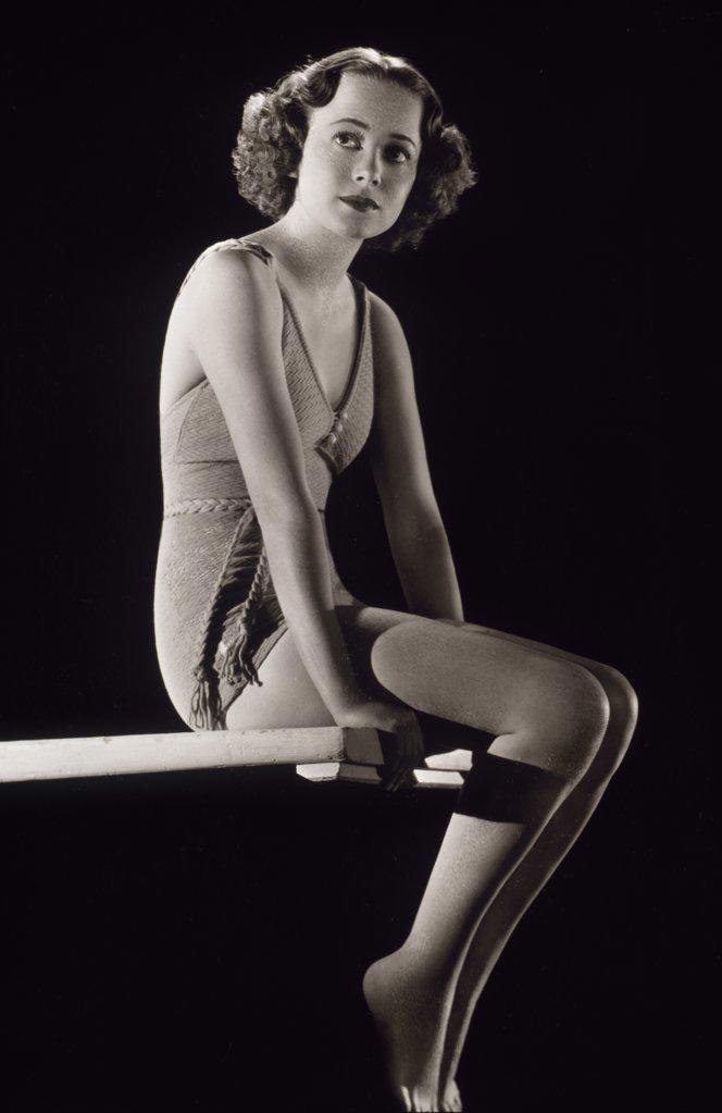 Stock Photo: 252-257 Olivia de Havilland  Actress (1916-     )