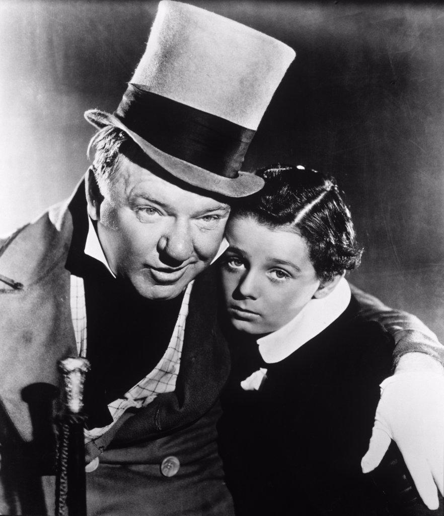 """W.C. Fields Freddie Bartholomew """"David Copperfield"""" 1935 : Stock Photo"""
